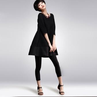 d434e026007 Маленькое черное платье с А-силуэтом в Вашем гардеробе станет платьем на  все случаи жизни. Его можно носить и зимой