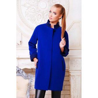 Женское синее пальто 2018 (59 фото): темно-синее, с капюшоном, классическое, короткое