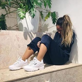 b59641be3 Уникальными по своему дизайну и оригинальными станут кроссовки модели  strada disruptor – белые кожаные кроссовки с плотной резиновой подошвой и  уплотненным ...