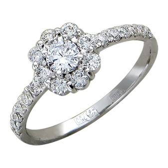 de298ce14b16 Обручальное и помолвочное кольцо из белого золота с бриллиантом стало очень  модно дарить в последнее время.