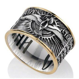 Мужское кольцо Спаси и Сохрани (63 фото): золотые и серебряные модели, церковные кольца для мужчин из серебра