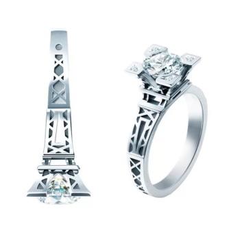 13f3cbee97fe Безусловно, кольца в виде зданий смотрятся очень массивно. Вряд ли такое  кольцо вы будете носить в качестве ежедневного украшения, ...