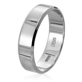Обручальные кольца из белого золота (82 фото)  свадебные парные ... 07362db1bc9