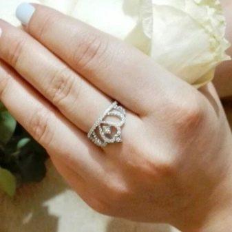 Серебряные кольца Sokolov: серебро с фианитом и цитрином, модели с эмалью