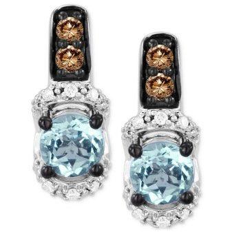 Серьги с аквамарином (55 фото): модели из золота и серебра, модные серебряные сережки с натуральным камнем
