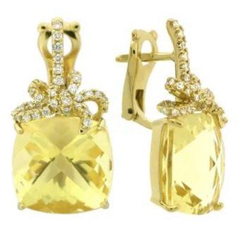 Серьги с цитрином: изделия из золота и серебра, серебряные сережки к загару