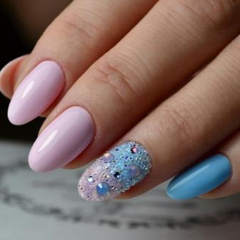 Маникюр на длинные ногти (39 фото): идеи красивого дизайна 2022 на ногти средней длины
