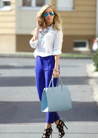 Платье из джинсов и блузки