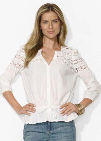 ecabba935a9 Среди стильных женских блузок на любой вкус и цвет явными фаворитами являются  модели из хлопка. В настоящее время существует огромное количество фасонов  ...