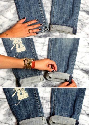 Как сделать подкаты на штанах