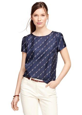 фото блузки с коротким рукавом