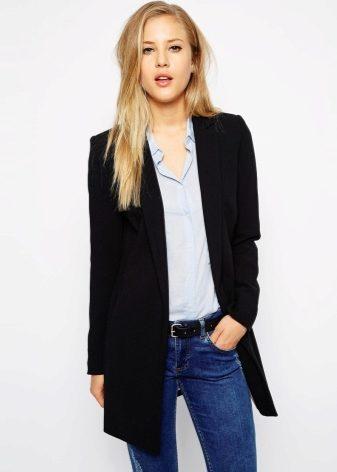 пиджаки длинные женские фото