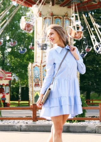 Платья юбка сшитая с рубашкой