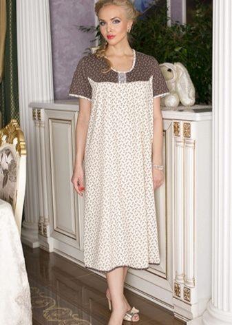 dfb928dee9427ee Женская ночная рубашка (60 фото): из хлопка, шелковые, из льна ...