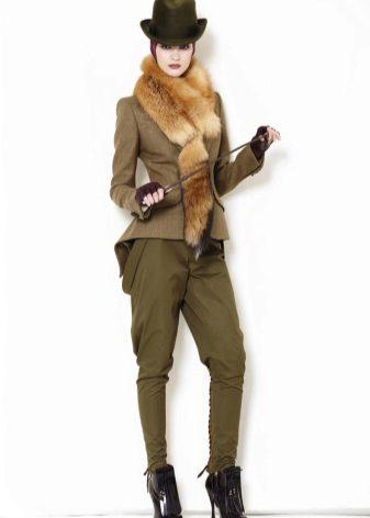 Женские брюки-галифе (50 фото): с чем носить, кому идут, летние, классические, стильные образы 2018