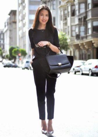 d8b75dd5bb09 Женские укороченные брюки (65 фото): с чем носить, широкие, какая ...
