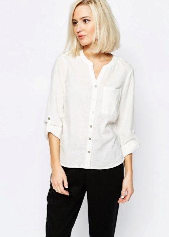 464d9e21870 Женская льняная рубашка (58 фото)  с чем и как носить