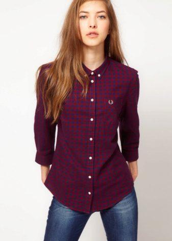 c3e0aa8e675 Рубашки в клетку женские 2019 (82 фото)  английские