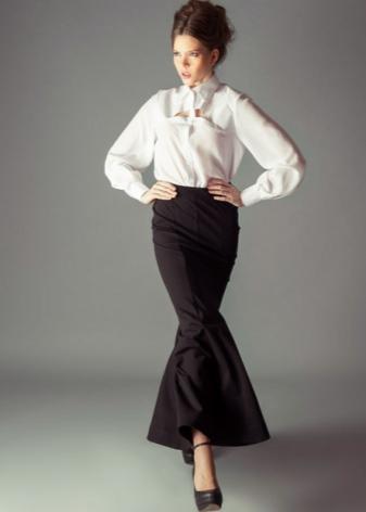 Как носить юбку годе миди