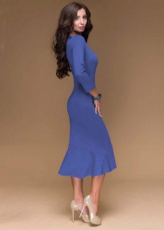 Платье миди с юбкой годе