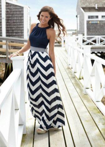 Платье в морском стиле длинное купить