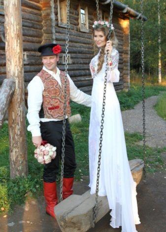 Народное русское свадебное платье