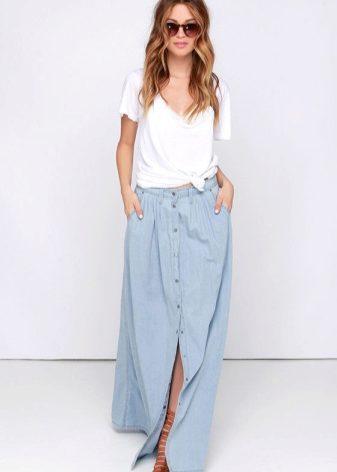 Как уменьшить джинсовую юбку