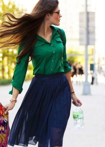 Простые пышные юбки