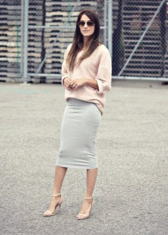 юбка-карандаш в полоску с чем носить фото