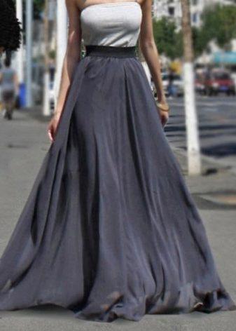 fba2ae73199 Юбка полусолнце (194 фото): с чем носить, отличия, в пол, черная ...