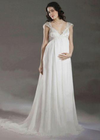 ампир свадебное платье фото
