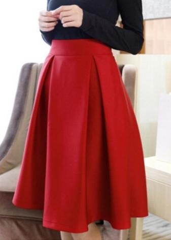 Варианты складок в юбках