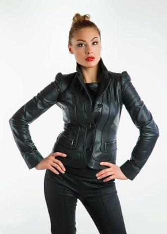 37ed6c74260 Кожаные куртки женские 2019 (105 фото)  из натуральной кожи