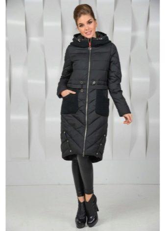 7f667b07dc85 Спортивный короткий пуховик вроде лыжной куртки будет лучше всего  смотреться с джинсами и узкими однотонными брюками из плотной ткани.