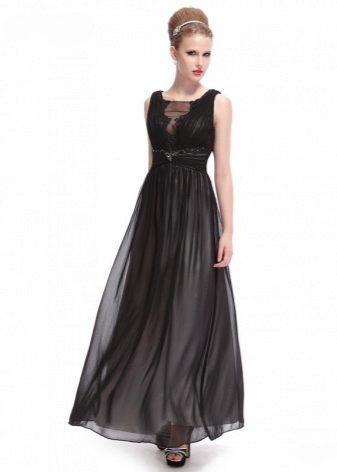 5329b5f82ab Платья в пол с открытой спиной – наряд для смелых соблазнительниц. Этот  образ черной кошечки