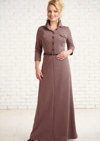 Длинное платье-рубашка 2018 (53 фото): в пол, макси, в полоску, в клетку, с длинным рукавом, с чем носить, джинсовое