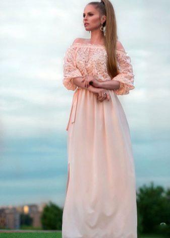 Длинное платье на лето 2017