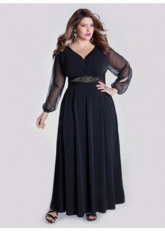 071f6a6429e Длинные вечерние платья больших размеров для полных женщин (74 фото)