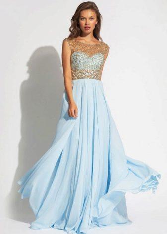 17bc5b7f4af Голубое вечернее платье (67 фото)  нежно-голубое и другие оттенки