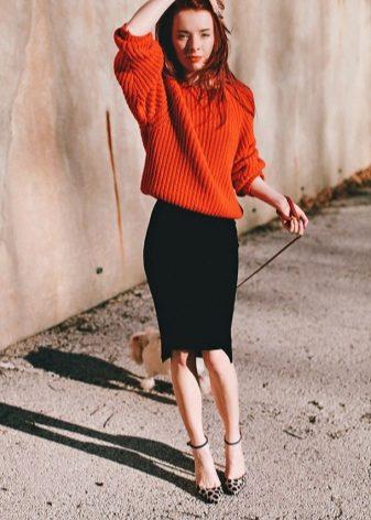 Стиль юбка и свитера