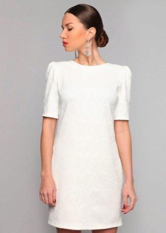 Прямое черно белое платье