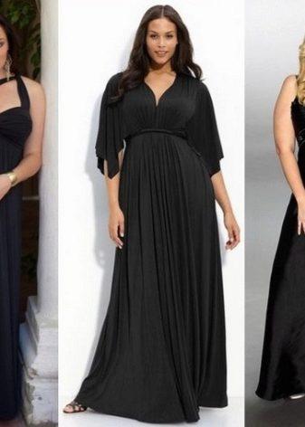 Платье в пол для полных женщин и девушек (56 фото): больших размеров, вечернее, в полоску, летнее