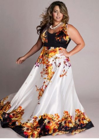f7da3b8f7c6d Не рекомендуются пышным дамам лишь атласные и прочие платья из блестящих  материалов. Они будут только акцентировать внимание на полноте.