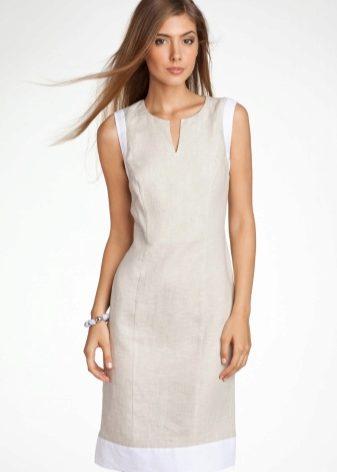 bbbbb63a9 В жаркий день любой моднице хочется быть одетой не только красиво, но и  удобно. Летние платья из льна – прекрасная возможность провести лето с  комфортом!