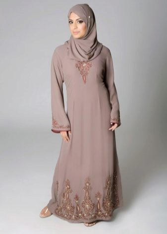 Летнее платье в пол с рукавами фото мусульманские