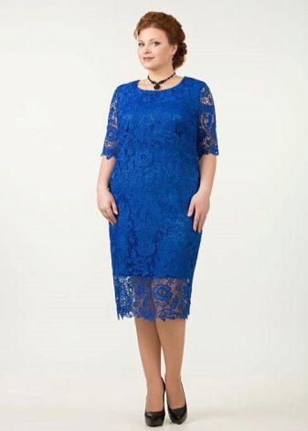Платье с регланом для полных женщин