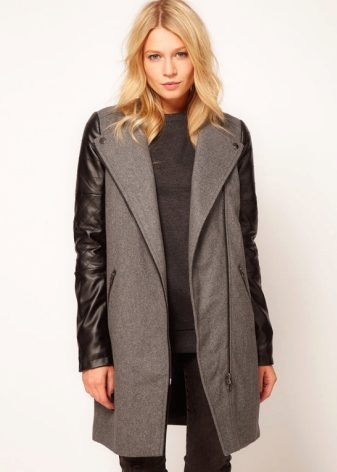 Пальто на молнии (38 фото): женские, с косой молнией, сбоку