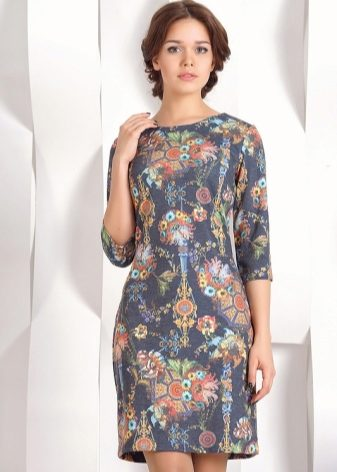 Платье ткань крупный рисунок