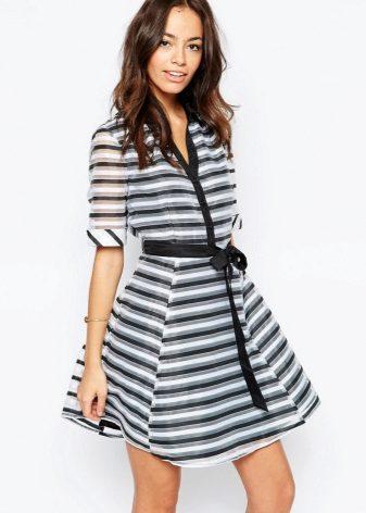 e5e232e925e8161 Платье-рубашка 2019 (154 фото): новинки, джинсовое, с открытыми ...
