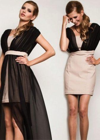Sukně s odnímatelnou sukní - to je oblíbená svatební volba. V mini je  mnohem pohodlnější tančit a účastnit se soutěží. V krátkých šatech můžete  jít po ... 116833a7e9